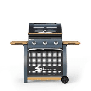 Sahara 3 Burner Oak Gas BBQ with Side Burner