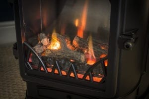 sahara provence gas fire provides instant indoor heating