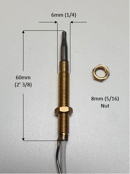 Narrow Thread Thermocouple for Patio Gas Heater